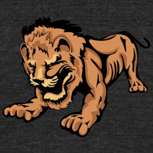 playing_lion - Unisex Tri-Blend T-Shirt by American Apparel