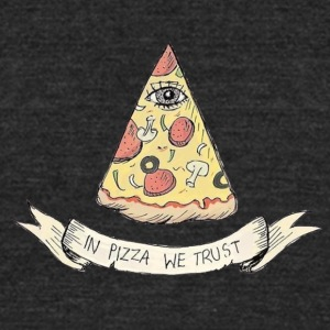 pizza - Unisex Tri-Blend T-Shirt by American Apparel
