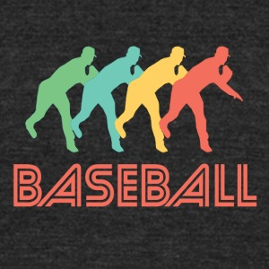 Baseball Pitcher Pop Art - Unisex Tri-Blend T-Shirt by American Apparel