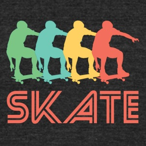 Skateboarding Pop Art - Unisex Tri-Blend T-Shirt by American Apparel