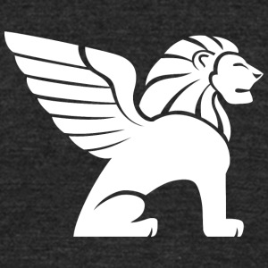 lion_with_wings_white - Unisex Tri-Blend T-Shirt by American Apparel