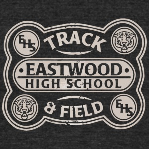 EHS Track Eastwood High School Field - Unisex Tri-Blend T-Shirt by American Apparel