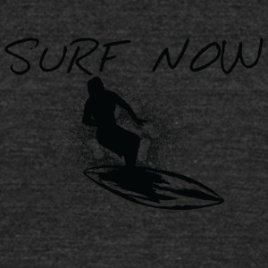 Surf_now_girl_black - Unisex Tri-Blend T-Shirt by American Apparel