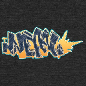 nepal_graffiti_fire - Unisex Tri-Blend T-Shirt by American Apparel