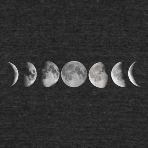 Moon phases - Unisex Tri-Blend T-Shirt by American Apparel