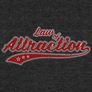 Law of Attraction (retro Color) - Unisex Tri-Blend T-Shirt by American Apparel