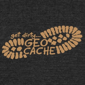 Get Dirty Geocache Shirt - Unisex Tri-Blend T-Shirt by American Apparel