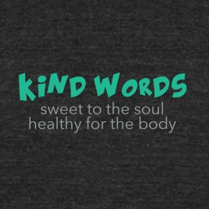 Kind Words - sweet 'n' healthy - Unisex Tri-Blend T-Shirt by American Apparel