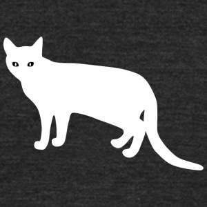 white_cat_from_side - Unisex Tri-Blend T-Shirt by American Apparel