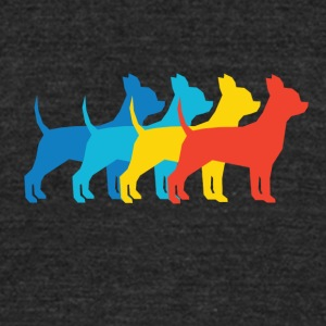 Chihuahua Pop Art - Unisex Tri-Blend T-Shirt by American Apparel