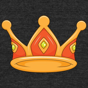 light red crown - Unisex Tri-Blend T-Shirt by American Apparel