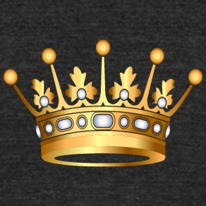 Monarch Gold crown pearl VIP jewels - Unisex Tri-Blend T-Shirt by American Apparel