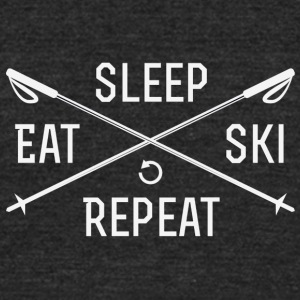 EAT. SLEEP. SKI. REPEAT. - Unisex Tri-Blend T-Shirt by American Apparel