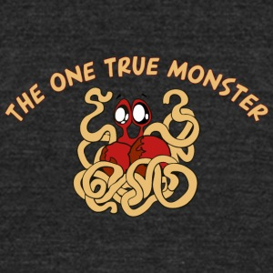 the one true monster cartoon - Unisex Tri-Blend T-Shirt by American Apparel