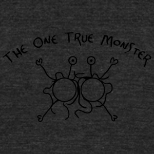the one true monster - Unisex Tri-Blend T-Shirt by American Apparel