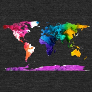 Watercolor Map - Unisex Tri-Blend T-Shirt by American Apparel