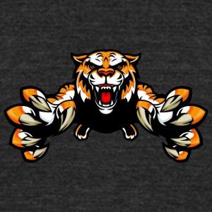 jumping_wild_tiger - Unisex Tri-Blend T-Shirt by American Apparel
