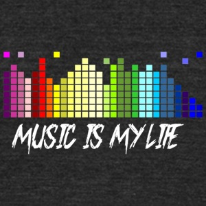 Music - Unisex Tri-Blend T-Shirt by American Apparel