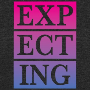 expecting - Unisex Tri-Blend T-Shirt by American Apparel