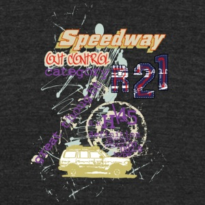speedway out - Unisex Tri-Blend T-Shirt by American Apparel