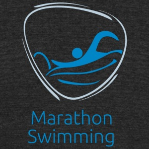 Marathon_swimming - Unisex Tri-Blend T-Shirt by American Apparel