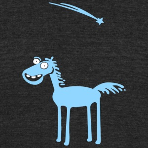 Blue horse - Unisex Tri-Blend T-Shirt by American Apparel