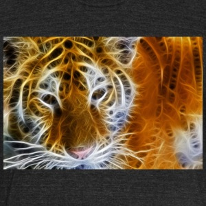 tiger glow - Unisex Tri-Blend T-Shirt by American Apparel