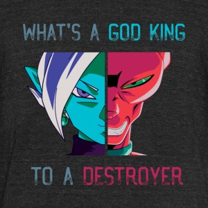 God of Destruction - Unisex Tri-Blend T-Shirt by American Apparel