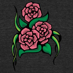 3_roses - Unisex Tri-Blend T-Shirt by American Apparel