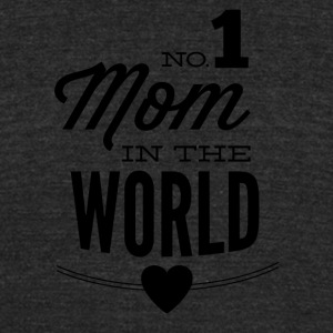 NO_1_mom_in_the_world-01 - Unisex Tri-Blend T-Shirt by American Apparel