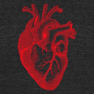 heart - Unisex Tri-Blend T-Shirt by American Apparel