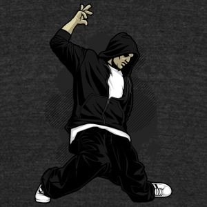 street_dancer_break_dance - Unisex Tri-Blend T-Shirt by American Apparel