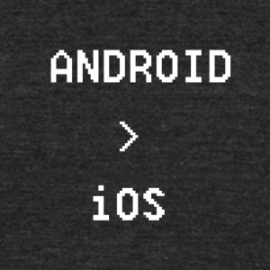 Android is Greater than iOS - Unisex Tri-Blend T-Shirt by American Apparel