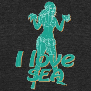 i_love_see_pin_up_girl_vintage - Unisex Tri-Blend T-Shirt by American Apparel