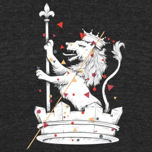 lion with crown - Unisex Tri-Blend T-Shirt by American Apparel