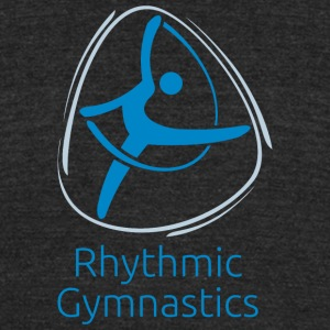 Rhythmic_gymnastics_blue - Unisex Tri-Blend T-Shirt by American Apparel