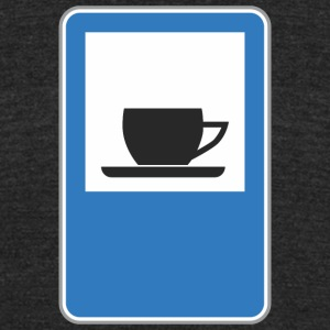 Road_sign_cafe - Unisex Tri-Blend T-Shirt by American Apparel