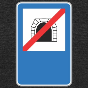 Road_sign_no_train_hole - Unisex Tri-Blend T-Shirt by American Apparel