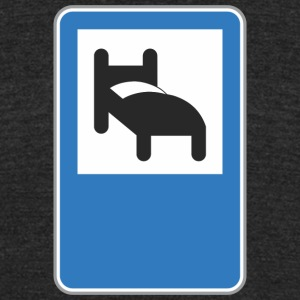 Road_sign_bed - Unisex Tri-Blend T-Shirt by American Apparel