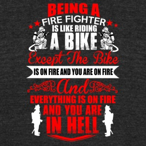 Fire Fighter - Unisex Tri-Blend T-Shirt by American Apparel
