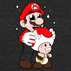 Mario Licking Toad - Unisex Tri-Blend T-Shirt by American Apparel