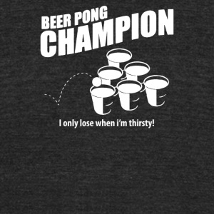 Beer Pong Champion - Unisex Tri-Blend T-Shirt by American Apparel