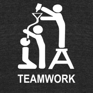 TEAM WORK funny - Unisex Tri-Blend T-Shirt by American Apparel