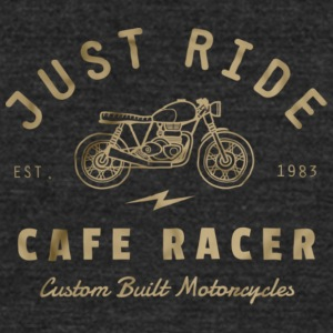 Just Ride Cafe Racer - Unisex Tri-Blend T-Shirt by American Apparel