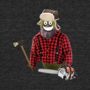 Lumberjack Pickle - Unisex Tri-Blend T-Shirt by American Apparel