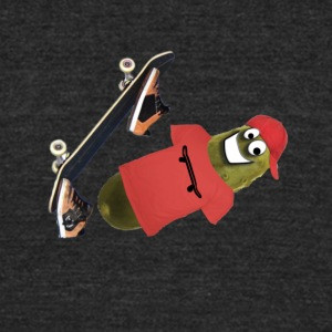 Skateboard Pickle Ollie - Unisex Tri-Blend T-Shirt by American Apparel