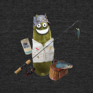 Fishing Pickle - Unisex Tri-Blend T-Shirt by American Apparel