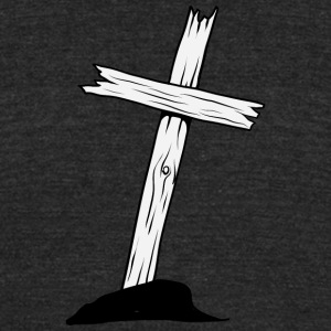 wood_christian_cross_6 - Unisex Tri-Blend T-Shirt by American Apparel