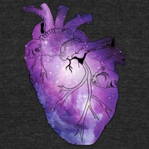 Galaxy Beating Heart - Unisex Tri-Blend T-Shirt by American Apparel