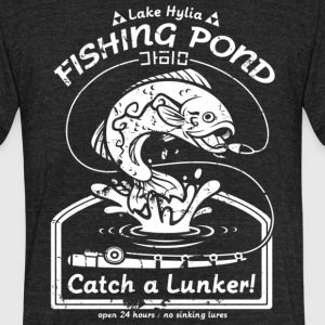 Fishing Pond Catch A Lunker T Shirt - Unisex Tri-Blend T-Shirt by American Apparel